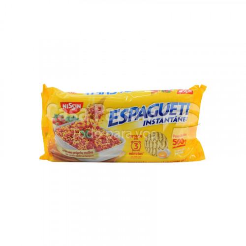Fideo espaguete color amarillo de 500 gr