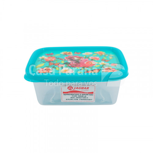 Tupper rectangular de plastico de 220 ml