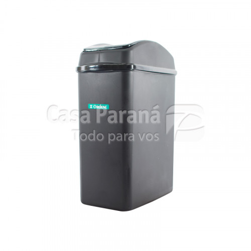 Basurero de plastico con tapa vaivén de 8,8 litros