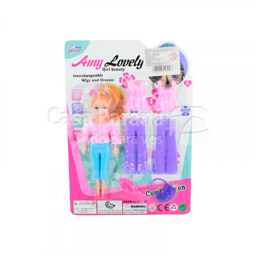Juego de muñeca con accesorios
