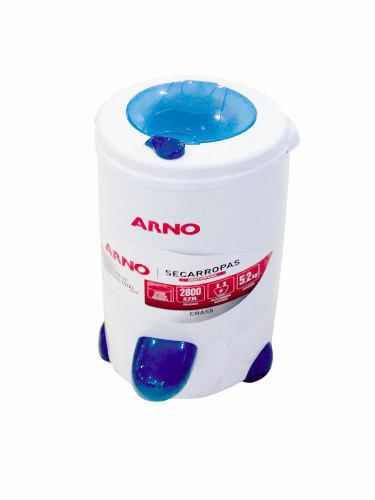 Centrifuga De Ropas Arno Mod Cra55 5.2kgs Blanca Tambor Inox