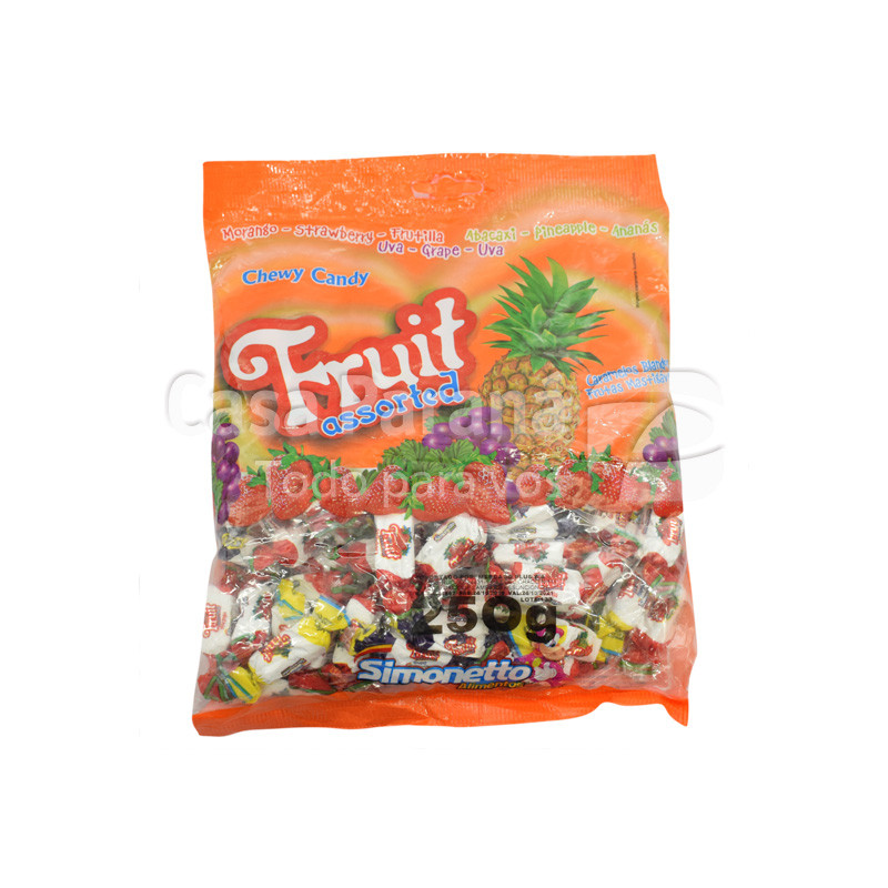 Caramelo masticable de frutas de 800 gr