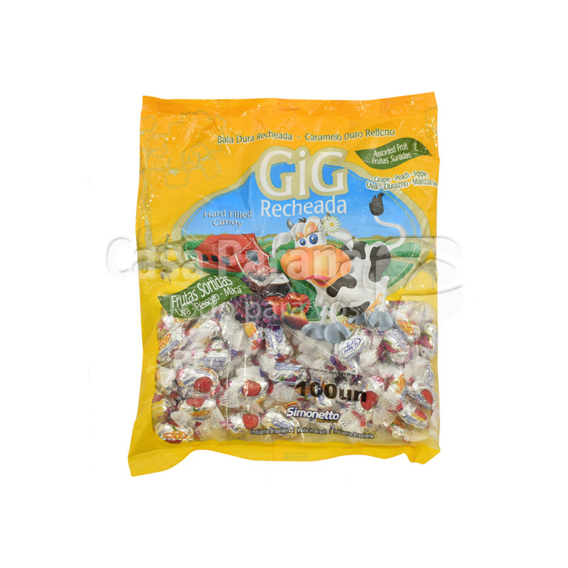 Caramelo con relleno de frutas de 100 gr