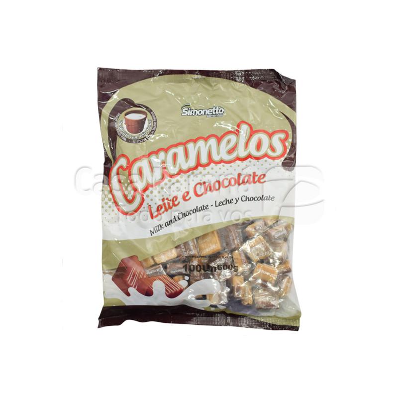 Caramelo masticable medio a medio de 600 gr