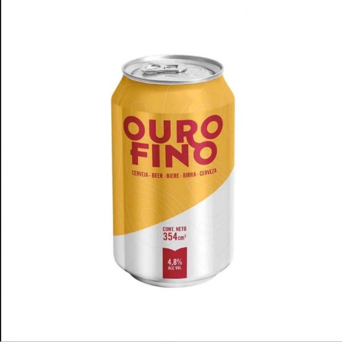 Cerveza OURO FINO 354 ml. lata