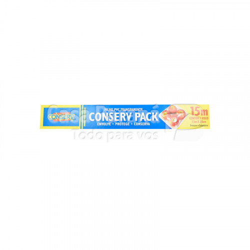 Papel filme PVC conserv pack 15 mts. x 28 cm
