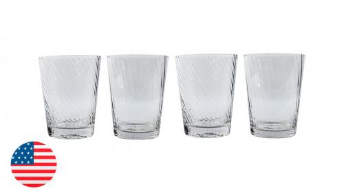 Juego de vasos de vidrio de 4 unidadesde 390 ml