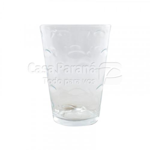 Vaso de vidrio con detalles de 265 ml