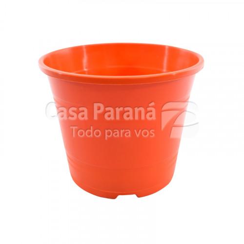 Macetero de plastico naranja No. 12