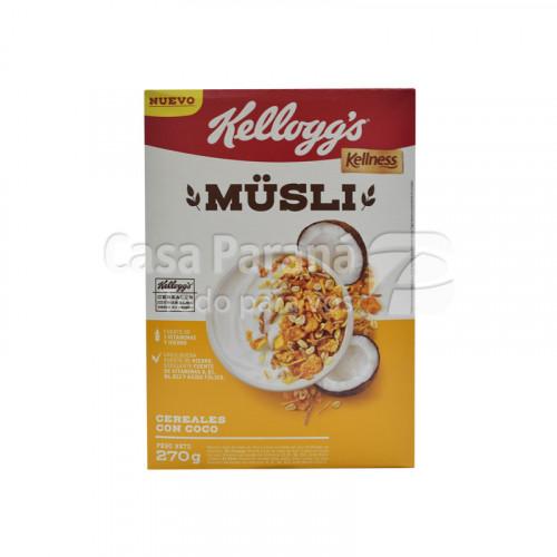Musli Kellogs coco y miel 270 gr.