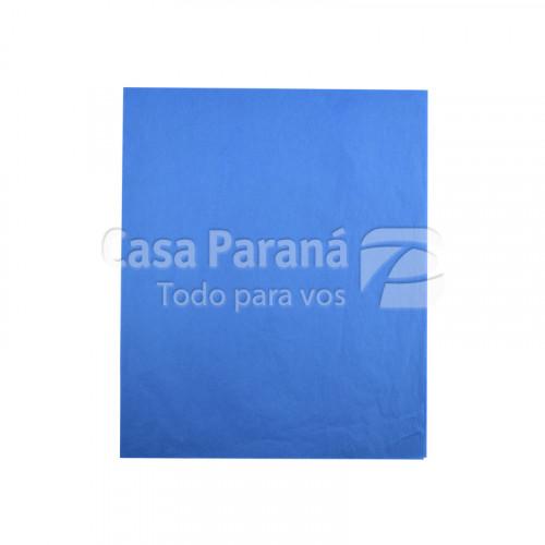 Papel de seda  azul 48x60